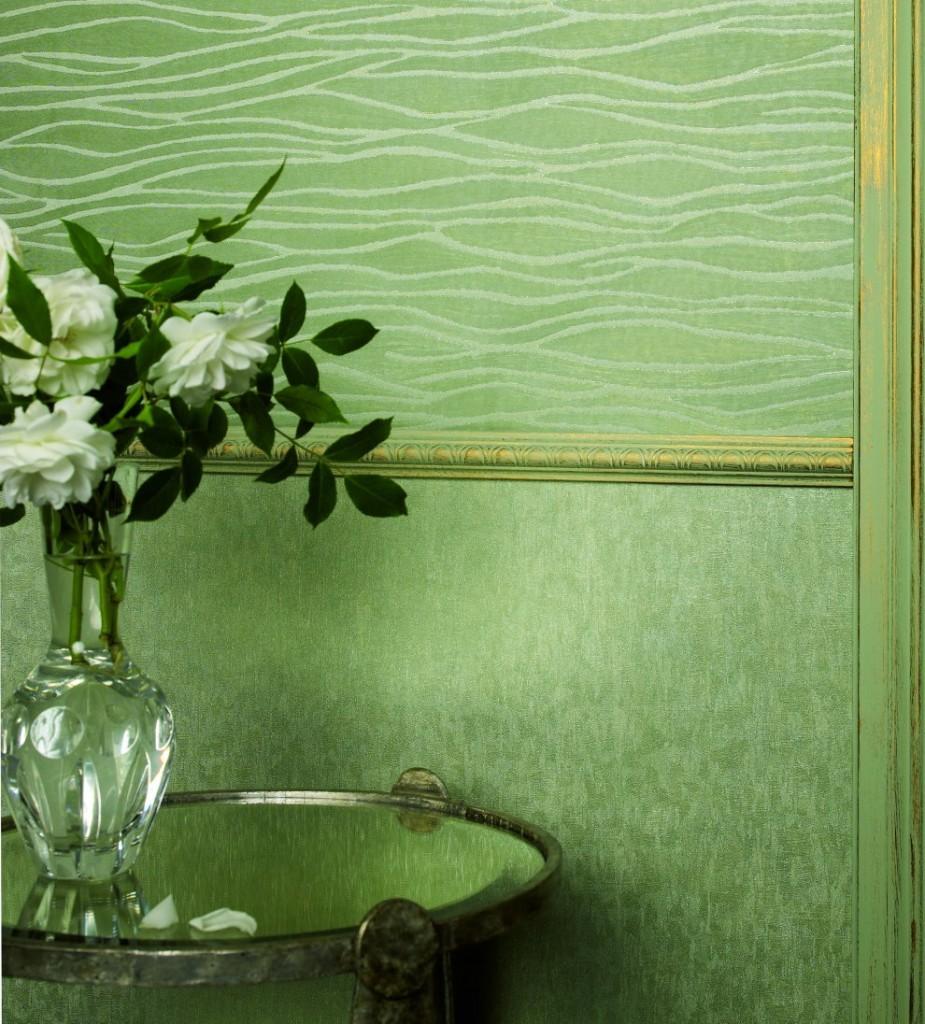 Виниловые обои зеленого цвета фото