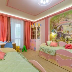 зонирование детской комнаты декор