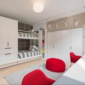 зонирование детской комнаты декор фото