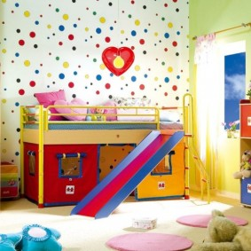зонирование детской комнаты фото декора