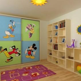 зонирование детской комнаты оформление