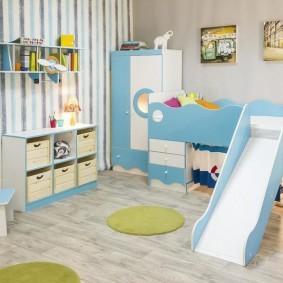 зонирование детской комнаты оформление фото