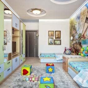 зонирование детской комнаты идеи варианты