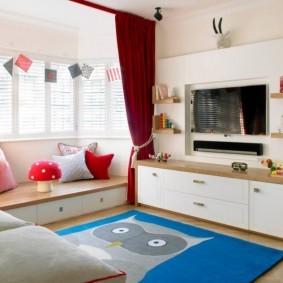 зонирование детской комнаты фото видов