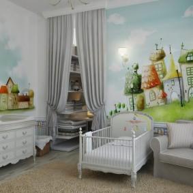 зонирование детской комнаты виды идеи