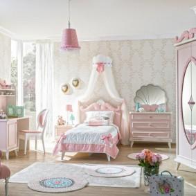 зонирование детской комнаты дизайн фото