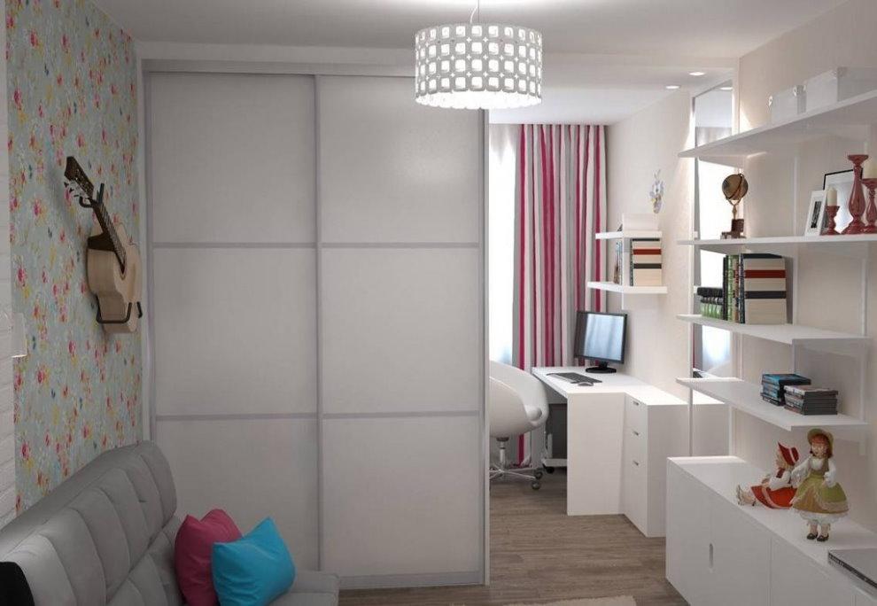 Зонирование комнаты с помощью шкафа-купе