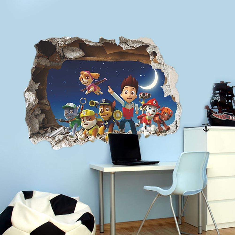 3D наклейки на стене в детской