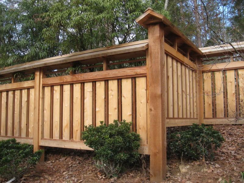 деревянный забор дизайн фото