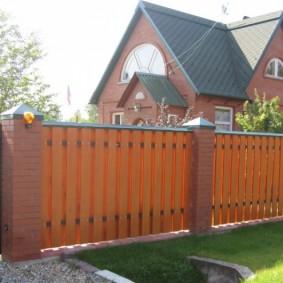 деревянный забор дизайн идеи