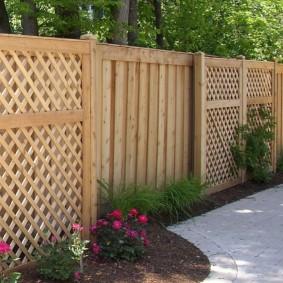 деревянный забор дизайн оформление