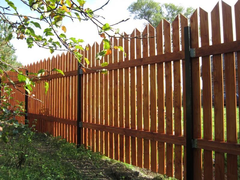 деревянный забор дизайн