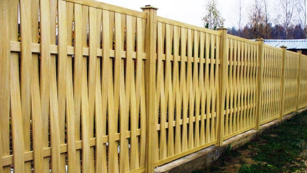 деревянный забор фото идеи