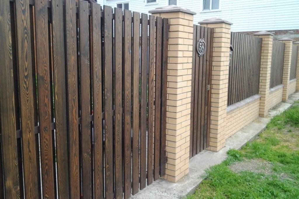деревянный забор идеи фото