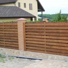 деревянный забор варианты идеи