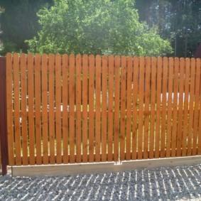 деревянный забор виды фото