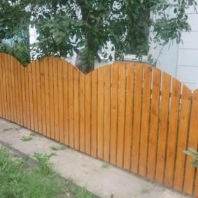 деревянный забор виды идеи