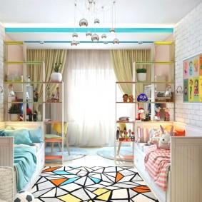 дизайн проект современной детской комнаты