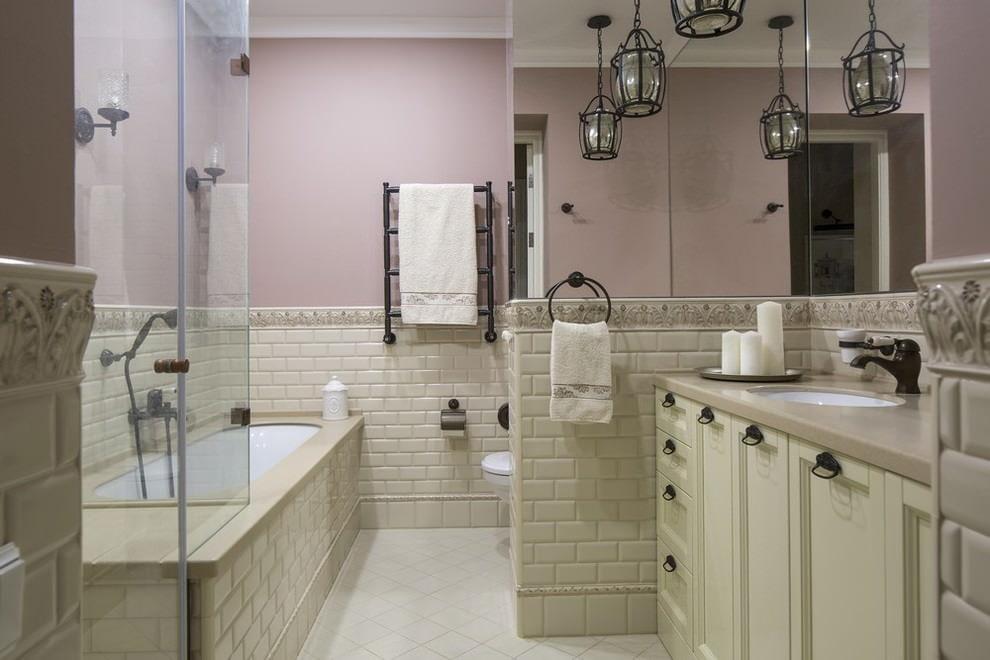 американский стиль в интерьере ванной