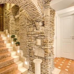 арка из камня в квартире фото декора