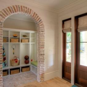 арка из камня в квартире декор идеи