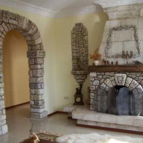 арка из камня в квартире идеи фото