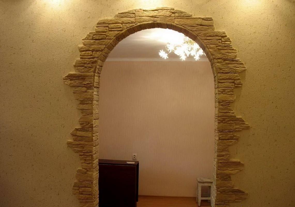 Варианты отделки арки фото
