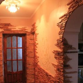 арка из камня в квартире интерьер идеи
