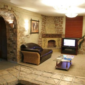 арка из камня в квартире идеи интерьер