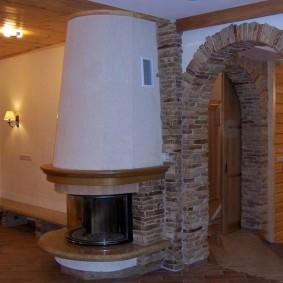 арка из камня в квартире идеи интерьера