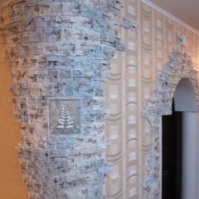 арка из камня в квартире оформление идеи