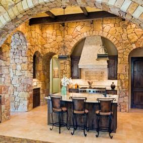 арка из камня в квартире идеи оформление