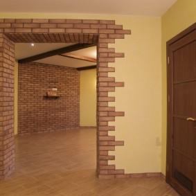 арка из камня в квартире дизайн