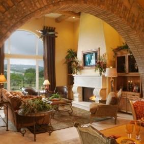 арка из камня в квартире варианты