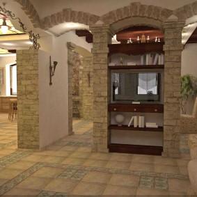 арка из камня в квартире фото варианты