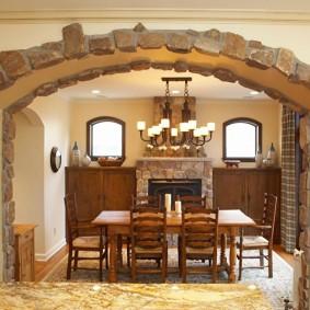 арка из камня в квартире идеи варианты