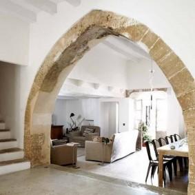 арка из камня в квартире идеи вариантов