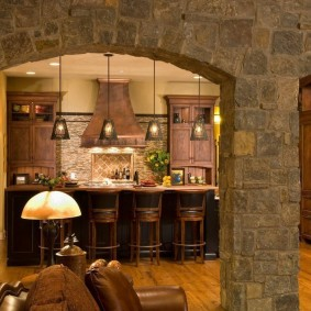 арка из камня в квартире виды