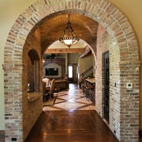 арка из камня в квартире виды фото