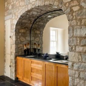 арка из камня в квартире дизайн фото