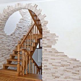 арка из камня в квартире фото дизайна