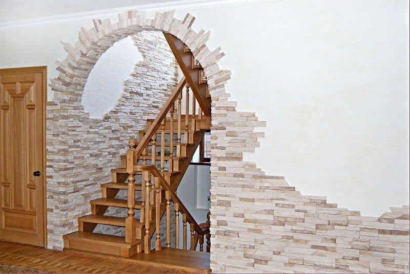 арка обложенная декоративным камнем фото аксессуар замечательно
