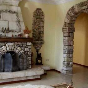 арка из камня в квартире дизайн идеи