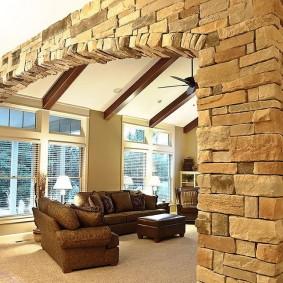 арка из камня в квартире идеи дизайн
