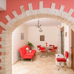 арка из камня в квартире идеи дизайна