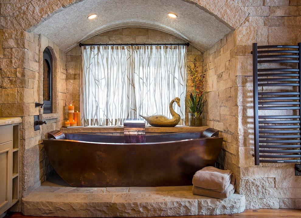 арка в дизайне ванной комнаты