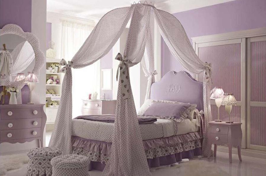 Оформление кровати для девочки школьного возраста