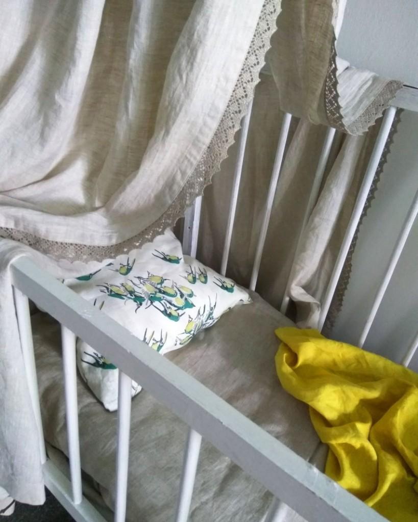 Детский балдахин из натуральной ткани