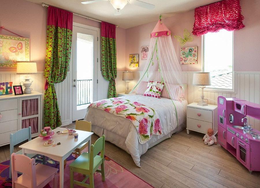 Интерьер спальни девочки дошкольного возраста