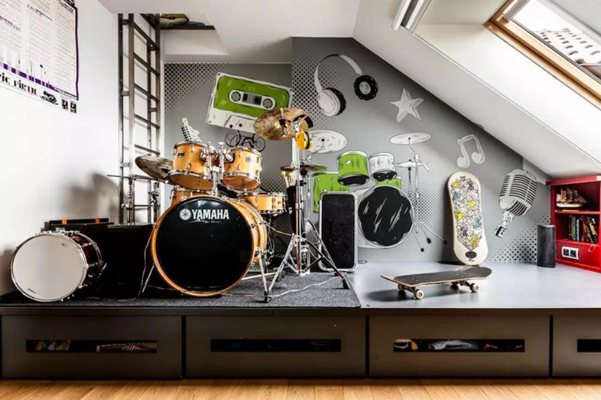 Комната мальчика-подростка в музыкальном стиле